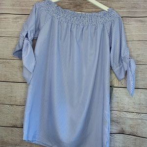 J for Justify blue & white strip top NWT